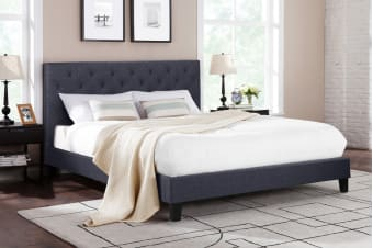 Shangri-La Bed Frame - Sorrento Collection (Charcoal Grey)