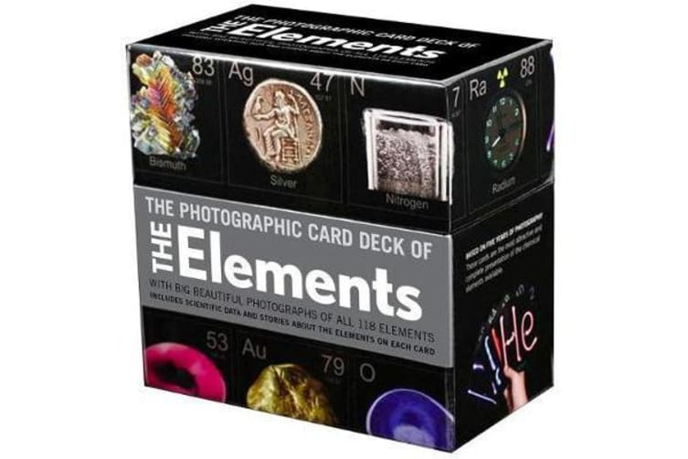 Photographic Card Deck Of The Elements - With Big Beautiful Photographs of All 118 Elements in the Periodic Table
