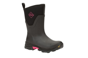 Muck Boots Womens/Ladies Arctic Ice Mid Boot (Black/Pink) (6 UK)
