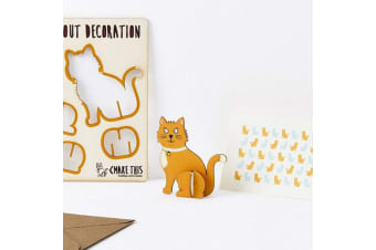 Pop Out Decoration Greeting Card - Cat