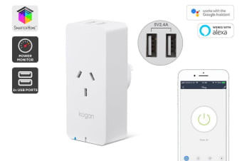 Kogan SmarterHome™ Smart Plug With Energy Meter & 5V 2.4A USB Ports