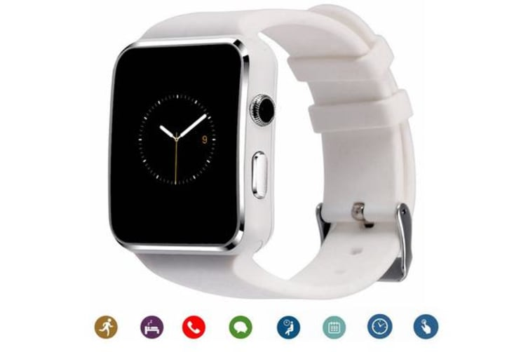 """TODO Bluetooth V3.0 Smart Watch 1.54"""" Ips Hd Lcd Rechargeable Handsfree Call - White"""