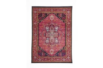 Overdyed Classic Style Rug Pink 230x160cm