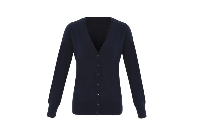 Premier Womens/Ladies Essential Acrylic Cardigan (Navy) (22 UK)