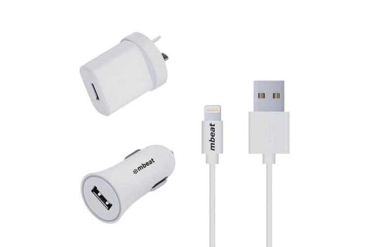 mbeat 3-in-1 MFI USB Lightning Charging Kit