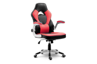 Ergonomic Gaming/Office Chair High Back Swivel PU Leather-Black & Red