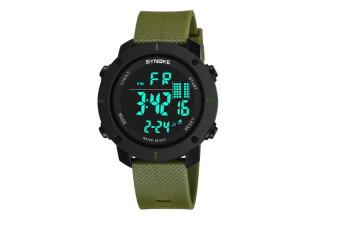 Outdoor Multifunctional Student Watch Men'S Sports Electronic Watch Green