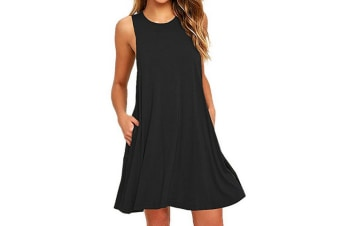 Women's Sleeveless Casual Loose Tank Summer Dress  M