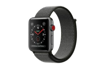 Apple Watch Series 3 (Space Grey, 38mm, Dark Olive Sport Loop, GPS + Cellular)