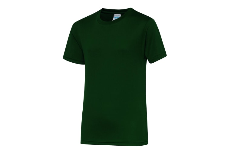 Just Cool Kids Unisex Sports T-Shirt (Bottle Green) (7-8)