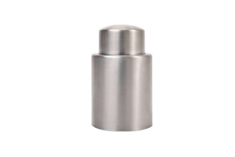 Wine Stoppers -1pc Stainless Steel Wine Bottle Stopper Vacuum Sealer Bar Cocktail Cover