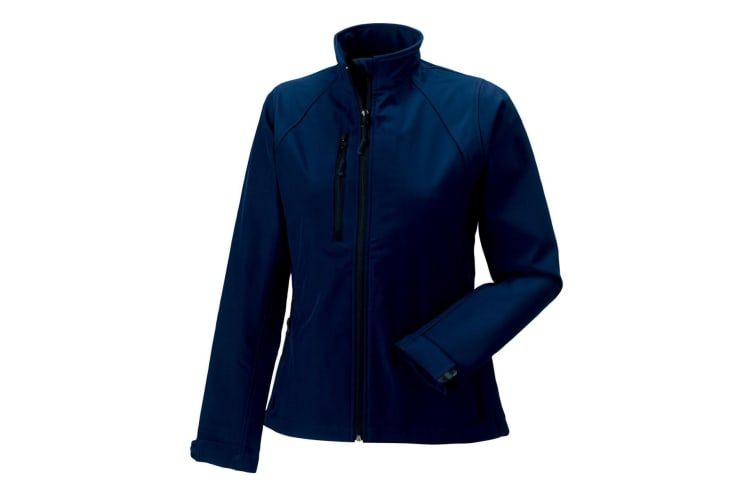 Jerzees Colours Ladies Water Resistant & Windproof Soft Shell Jacket (French Navy) (XS)