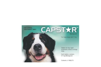 Capstar for Dogs 11.1-57 kgs - 6 Pack (1 Box) - Green - Flea Control Tablets