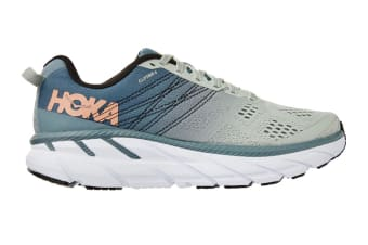 Hoka One One Women's Clifton 6 Running Shoe (Lead/Sea Foam, Size 8)