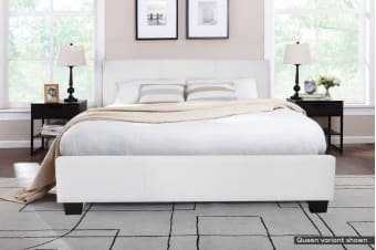 Shangri-La Bed Frame - Grandioso Collection (White, King)