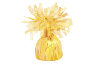 Unique Party Foil Tassels Balloon Weights (Pack Of 6) (Yellow)