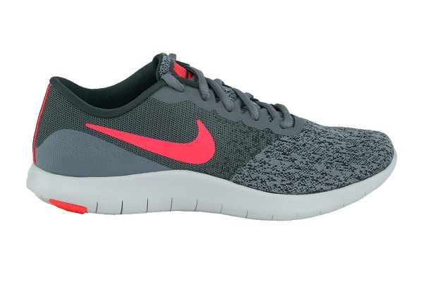 Nike Women's Flex Contact Running Shoes (Cool Grey/Solar Red/Anthracite, Size 6)