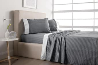 Sheridan Luxurious 300TC Cotton Sheet Set (King/Charcoal)