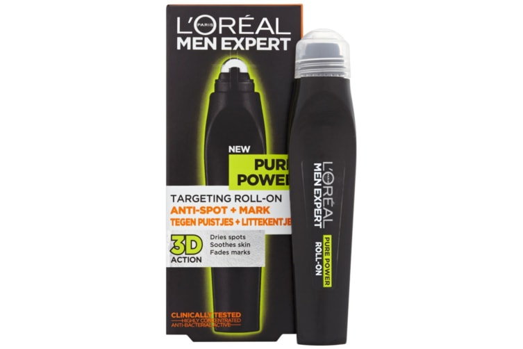 10ml Loreal Men Expert Pure Power Roll On for Face Spots/Blemishes/Marks