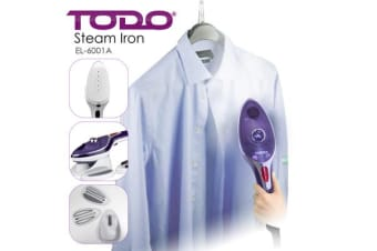 TODO 1000W Portable Steam Brush Iron / Wet and Dry Garment Steamer - Purple