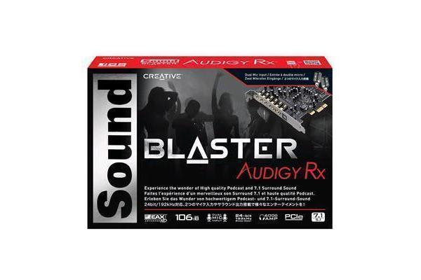 Creative Sound Blaster Audigy PCIe RX 7.1 Sound Card with High Performance Headphone Amp