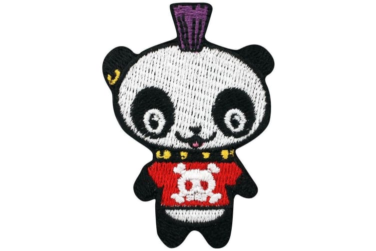 Grindstore Punk Panda Patch (Multicoloured) (One Size)