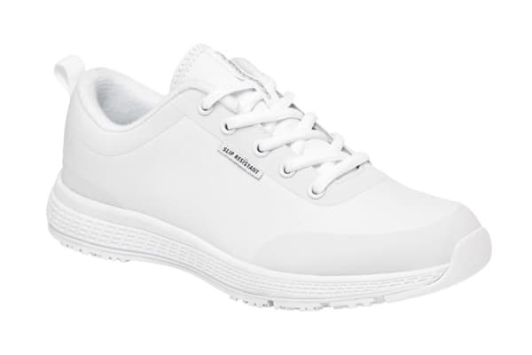King Gee Women's Superlite Lace Shoe (White, Size 10.5)