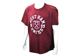 West Ham Official Mens Maroon T-Shirt (Maroon)