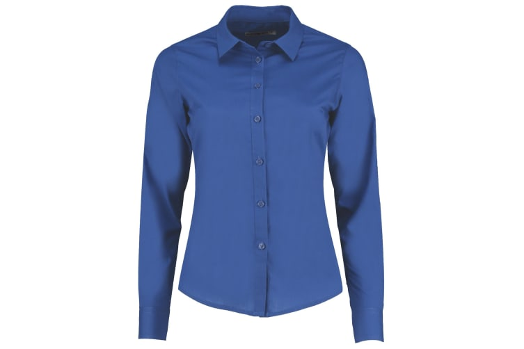 Kustom Kit Womens/Ladies Long Sleeve Poplin Shirt (Royal) (12)