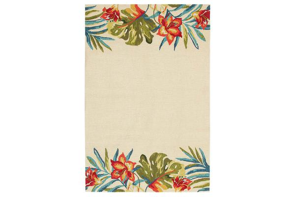 Anna Floral Indoor Outdoor Rug Cream 225x155cm