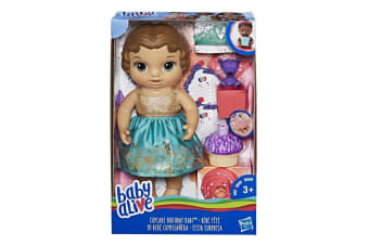 Baby Alive Cupcake Birthday Baby Brown Hair