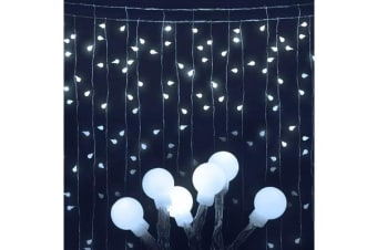 Jingle Jollys 600 LED Curtain Lights (Cold White)