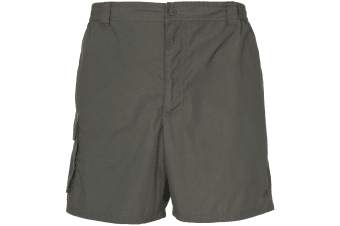 Trespass Roadside Mens Elasticated Cargo Shorts (Herb)
