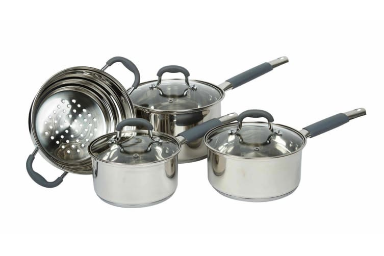 Davis And Waddell 4 Piece Stainless Steel Cookware Set
