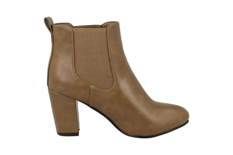 Anne Michelle Womens/Ladies Heeled Ankle Boots (Brown) (UK 7)