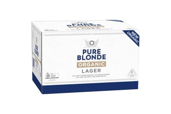 Pure Blonde Organic Lager Beer 24 x 330mL  Bottles