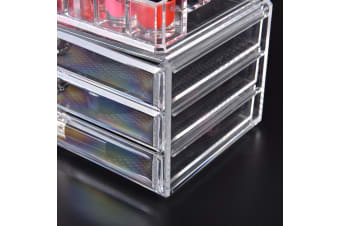 Acrylic Makeup Cosmetic Holder Jewellery Case Storage Organizer Box Drawers  -  E