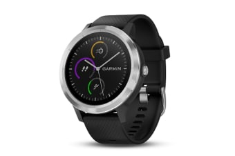 Garmin Vivoactive 3 Smart Watch - Black & Stainless (English Only) (010-01769-A0)