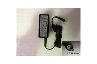 Samsung OEM Notebook AC Power Adapter/Charger, 19V 2.1A 40W (3.0x1.0mm)
