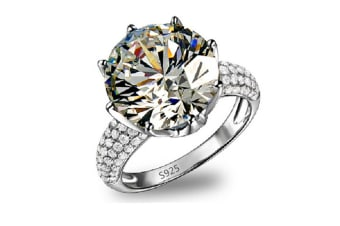 Austrian Crystal Eagagement Wedding Ring for Women Gift 12
