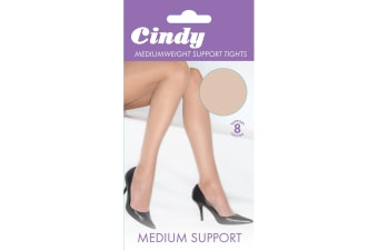 Cindy Womens/Ladies Mediumweight Support Tights (1 Pair) (Bamboo)