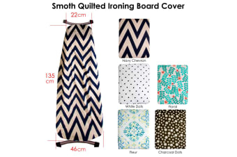 Quilted Ironing Board Cover Navy Chevron