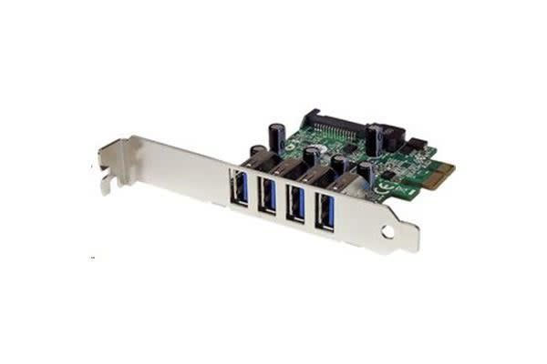 StarTech PEXUSB3S4V 4 Port PCI Express PCIe SuperSpeed USB 3.0 Controller Card Adapter with UASP