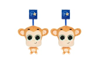 2PK Little Tikes Musical Minis Baby 6m+ Toy for Car Seat/Stroller Mac the Monkey