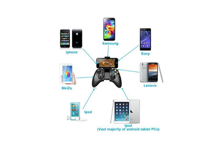 Wireless Multimedia Game Pad Controller Gamepad Joystick For Android Black