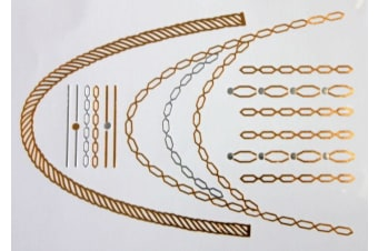 New Silver Gold Temporary Tattoo Metallic Art  Body Jewellery Boho Tribal Aztec [Design: Design L2]