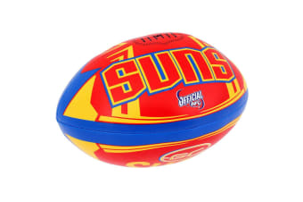 Summit AFL Gold Coast Suns 20cm Large/Soft Rugby Ball