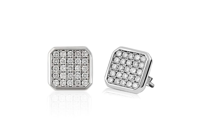 .925 Unconditional Delight Earrings-Silver/Clear