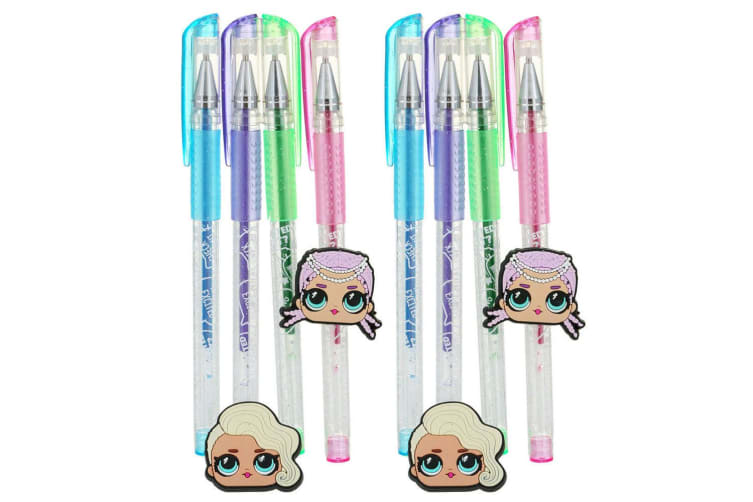 8pc LOL Surprise Multi Coloured Glitter Pens Drawing/Sketch Markers f/ Kids 3y+