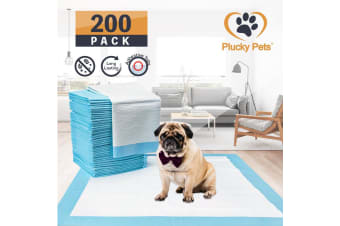 200 Pack Puppy Pet Dog Indoor Cat Toilet Training Pads(BLUE)